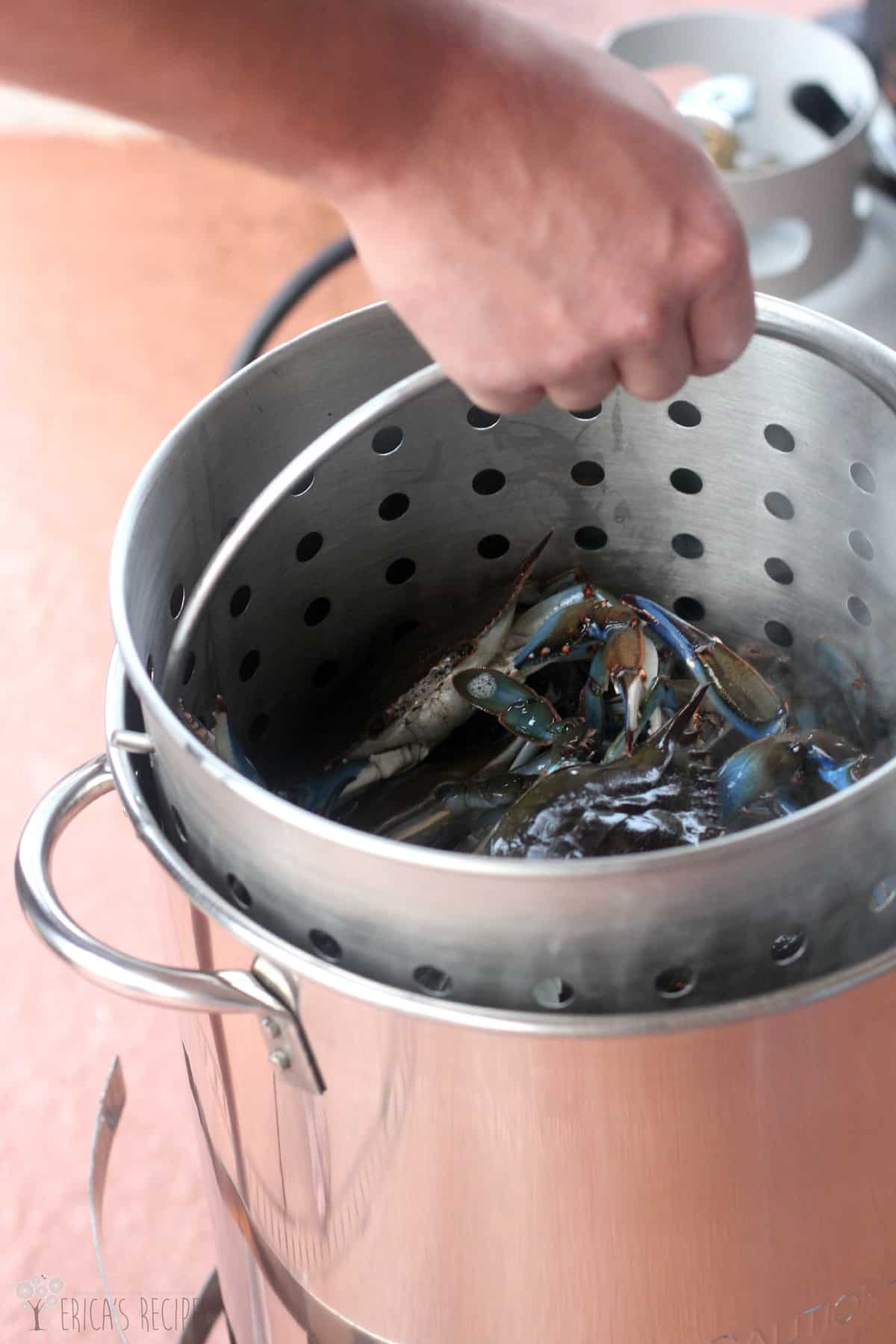 how to cook blue crabs without a steamer