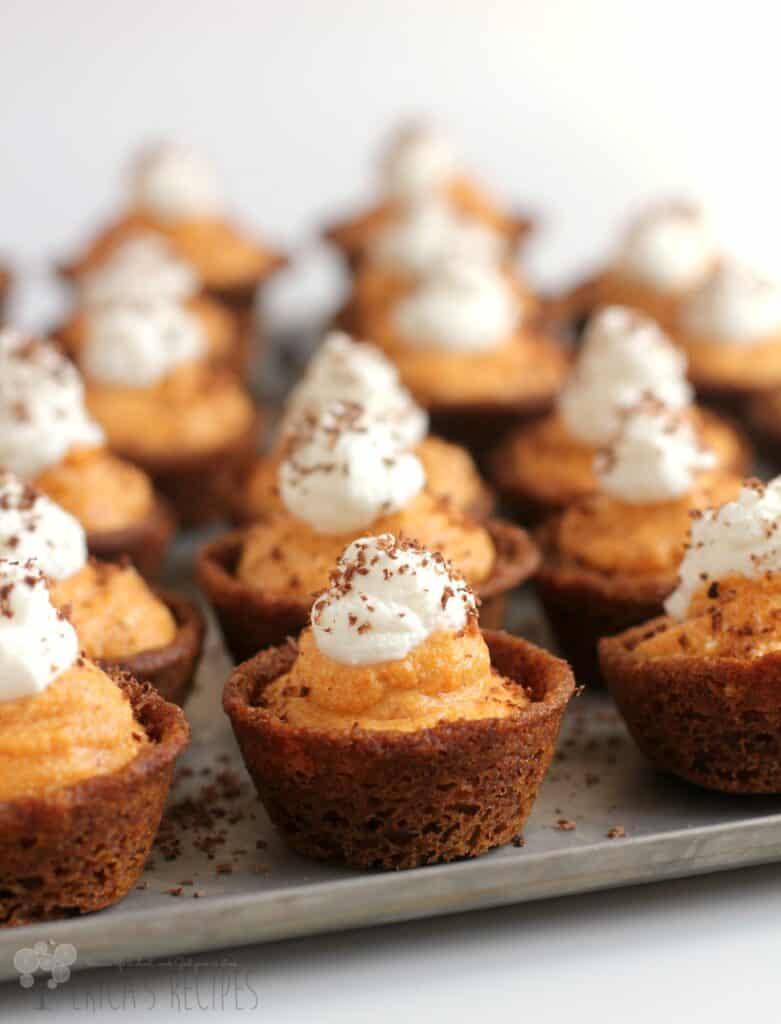 Pumpkin Cannoli Cookie Cups