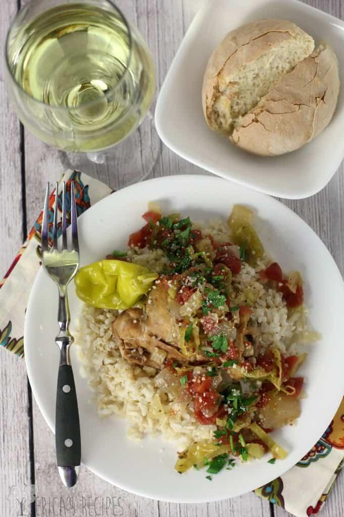 Slow Cooker Italian Pepperoncini Chicken