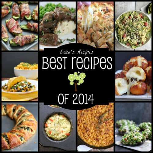 Erica's Recipes Best Recipes of 2014! All the best spurgy and healthy recipes that rocked EricasRecipes.com this year!