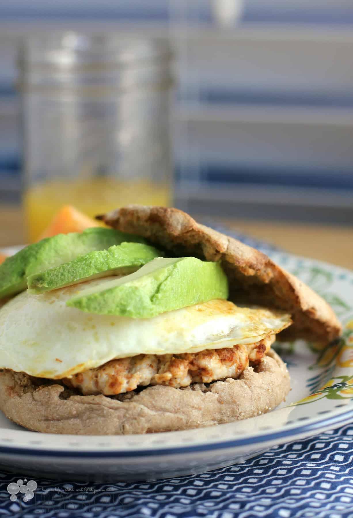 Healthy Breakfast Sandwich With Homemade Turkey Chorizo