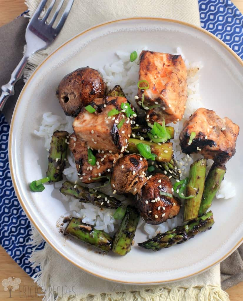 Sweet Balsamic Salmon Kabobs
