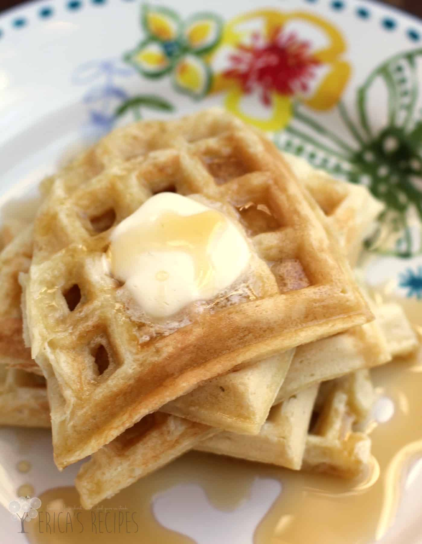 I love these waffles!!! They are my new favorite breakfast food. I went by your recipe but used Bob's Red Mill Whole Wheat Pastry Flour and used the whole egg on the 3rd one added to the batter.
