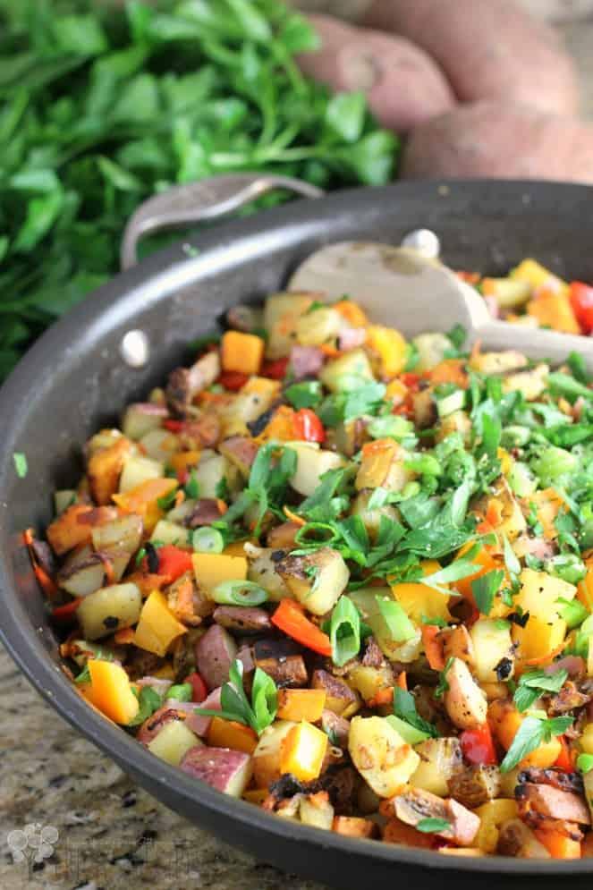 Healthy Three Potato Hash
