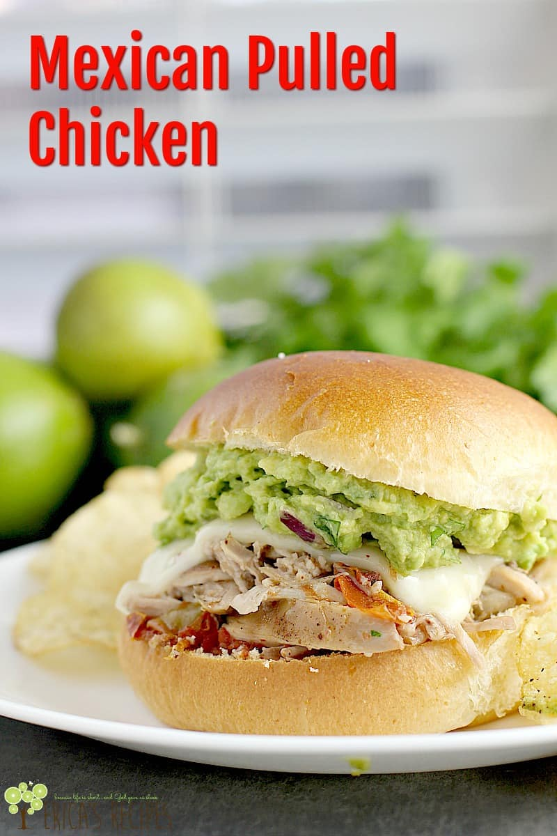 Mexican Pulled Chicken #recipe #slowcooker #easyrecipe #chicken #food