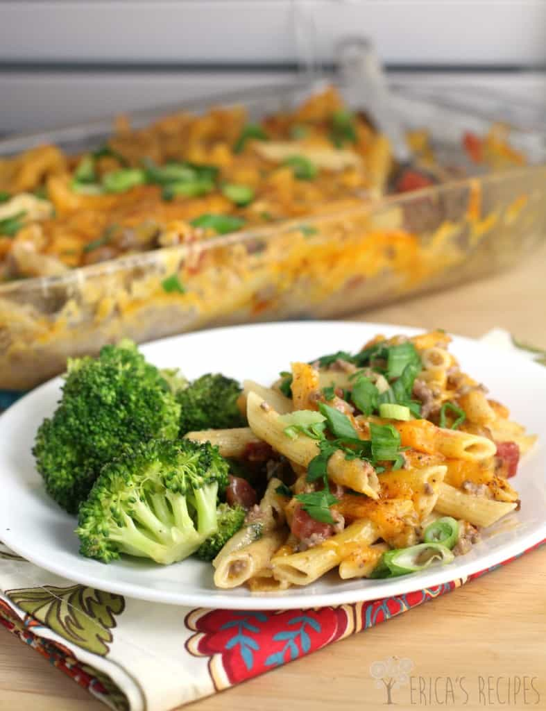 Super Quick Mexican Baked Penne