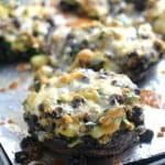 Mexican Quinoa Stuffed Portobello Mushrooms