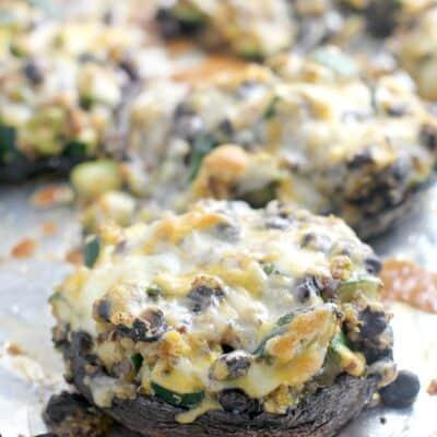 Mexican Quinoa Stuffed Portobello Mushrooms