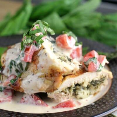 Pesto Chicken with Basil Tomato Cream