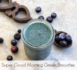 Super Good Morning Green Smoothie from EricasRecipes.com