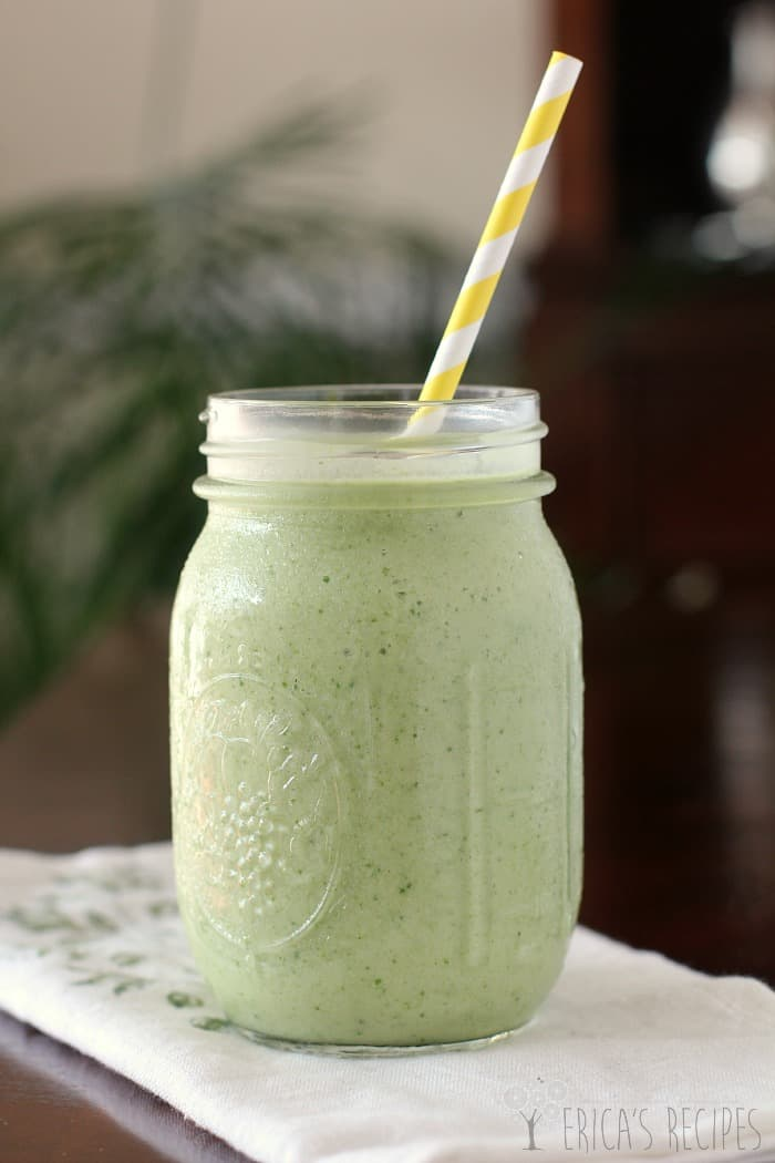 The Tropical Green Smoothie from EricasRecipes.com