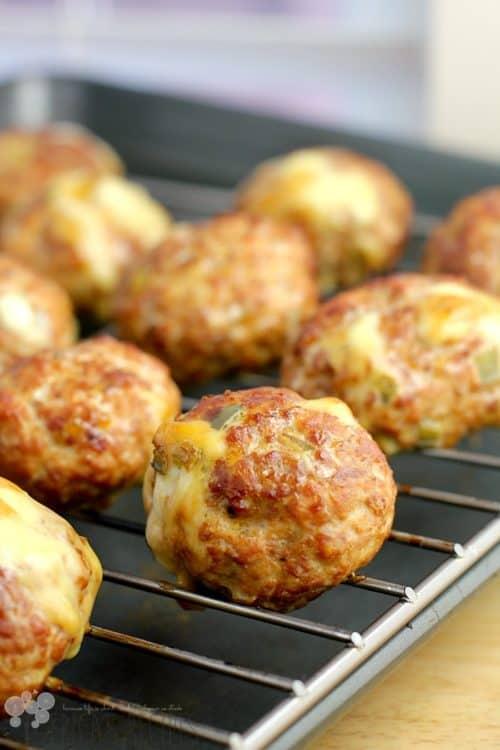 Smoked Jalapeno Cheese-Stuffed Pork Balls