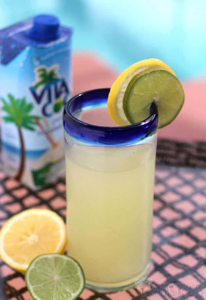 Healthy Homemade Sports Drink {My-torade!} from EricasRecipes.com