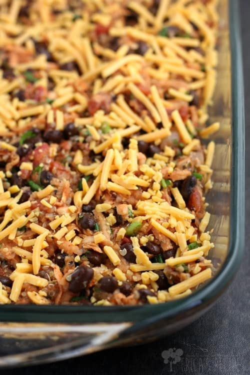 Quinoa and Black Bean Casserole
