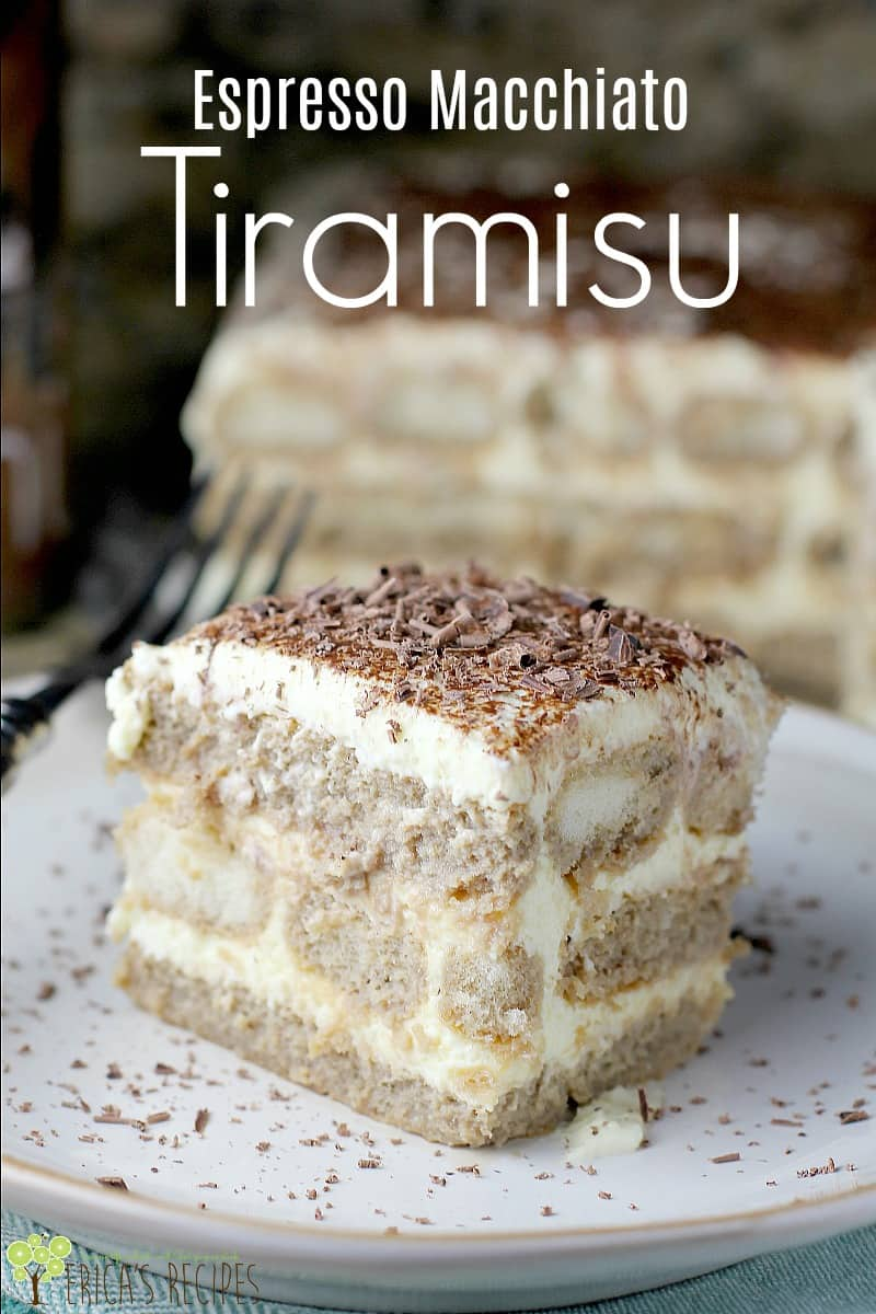 Tiramisu meets latte meets booze. In the dreamiest way possible. This Espresso Macchiato Tiramisu recipe, steered by the classic, is as close to Italian dessert heaven as my kitchen has ever brought me. Make this very special decadence for your holiday, celebration, or just because. #dessert #recipe #food #Italiandessert #coffee #chocolate #tiramisu
