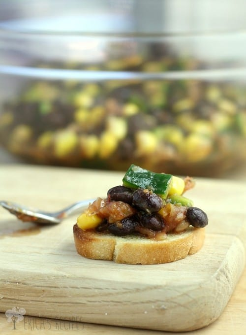 Mexican Bruschetta from EricasRecipes.com