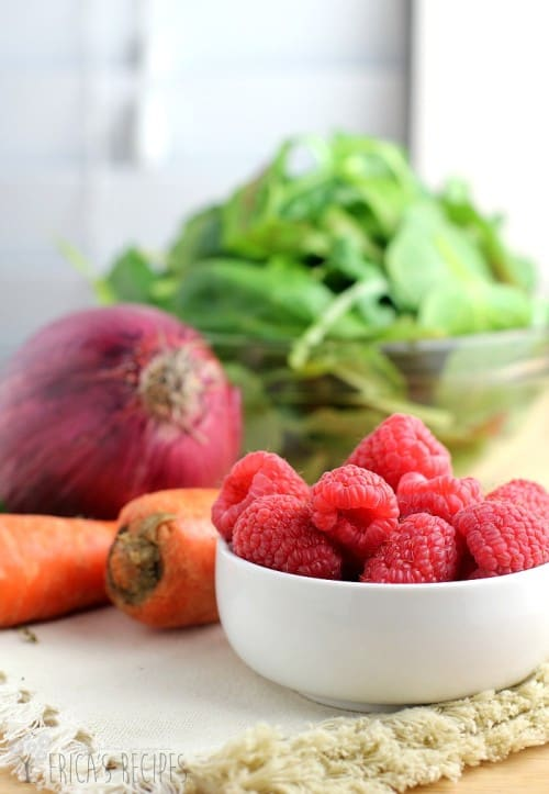 Sweet Winter Salad with Butternut Squash and Raspberries