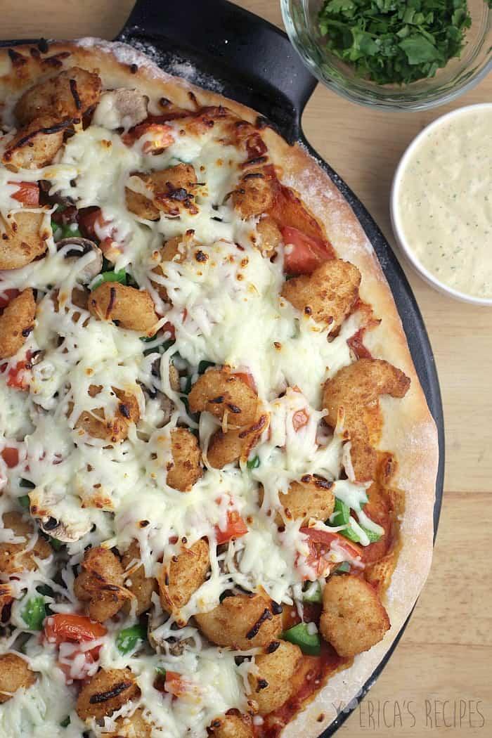 Shrimp Po' Boy Pizza