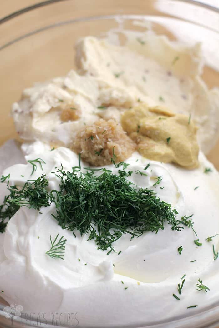Light and Creamy Horseradish and Dill Dip