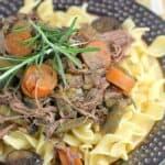 Rosemary Pot Roast {A Freezer-to-Crockpot Meal}
