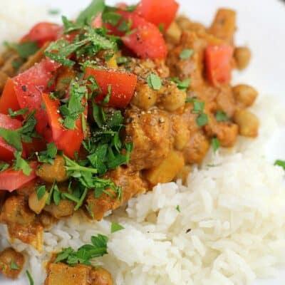 Slow Cooker Chana Masala, Southern Style {Vegan}