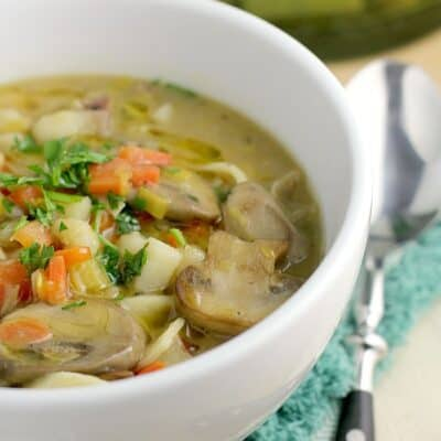 Potato Leek Noodle Soup