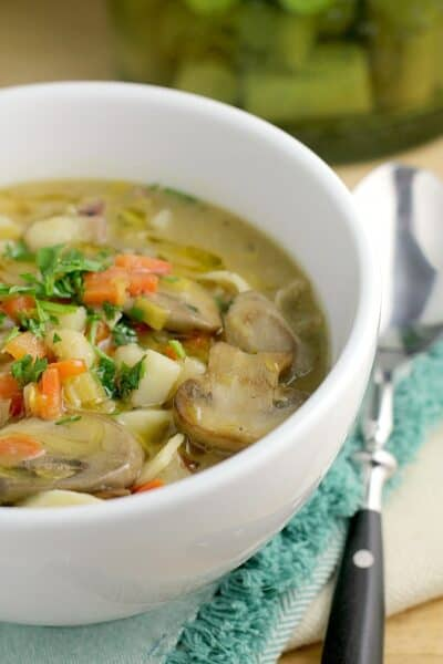 Potato Leek Noodle Soup http://wp.me/p4qC4h-3xt