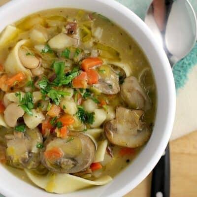 Potato Leek Noodle Soup http://wp.me/p4qC4h-3xt