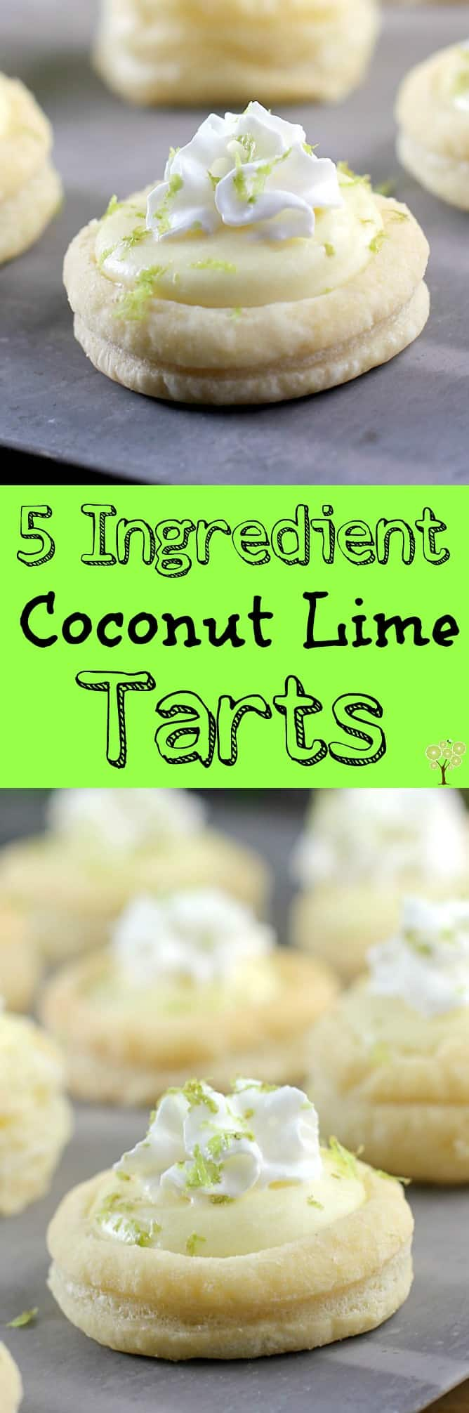 5 Ingredient Coconut Lime Tarts http://wp.me/p4qC4h-3EB #SpringReddi #ad