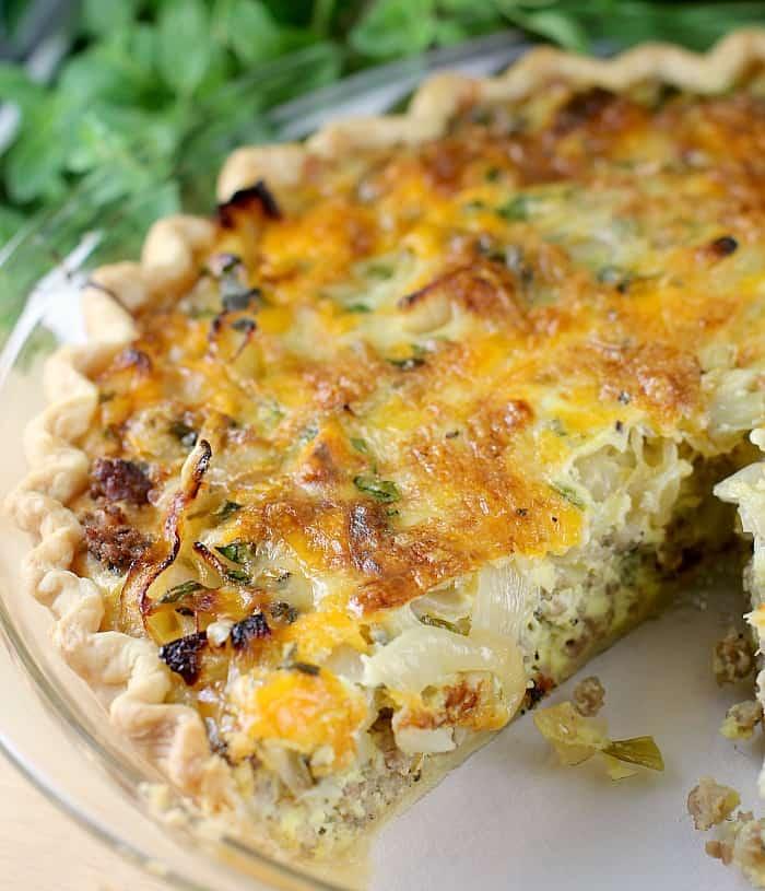 Caramelized Onion Quiche Recipe — Dishmaps