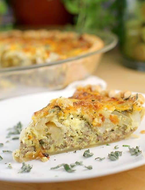 Sausage and Caramelized Onion Quiche http://wp.me/p4qC4h-3FG
