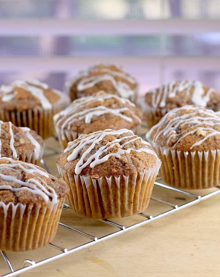 Caramel Pecan Coffee Cake Muffins (Dairy-Free)