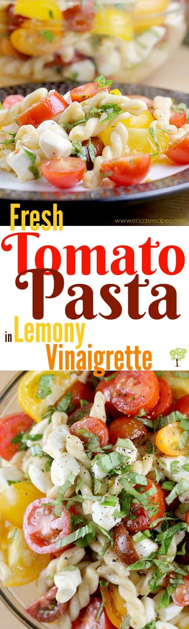 Fresh Tomato Pasta in Lemony Vinaigrette #ReadyPasta #ad @Barilla @Walmart