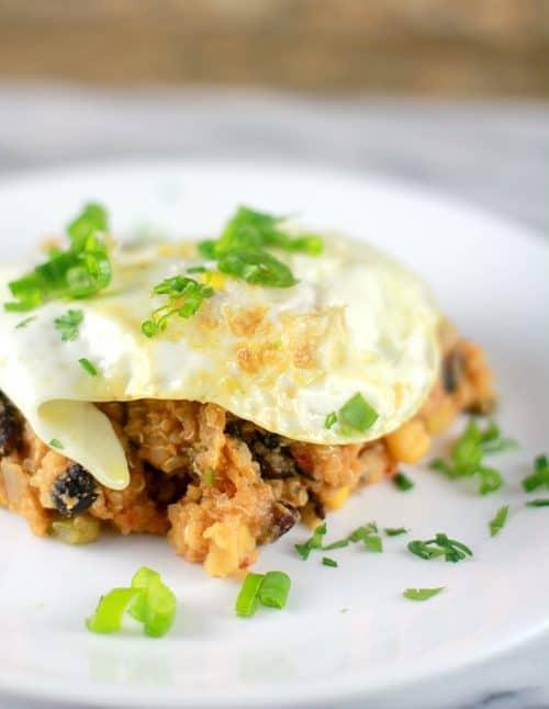 Slow Cooker Quinoa Tamale Casserole