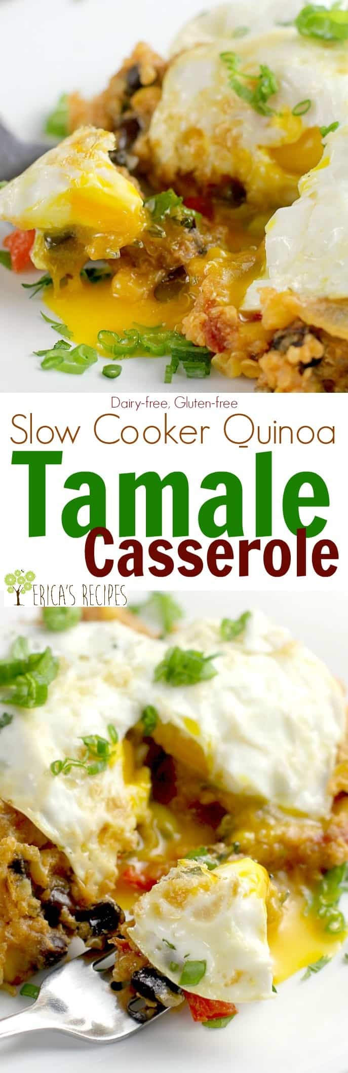 Slow Cooker Quinoa Tamale Casserole #31DaysWithRotel #ad @ro_tel @walmart
