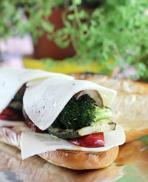 Spicy Grilled Veggie Hoagies
