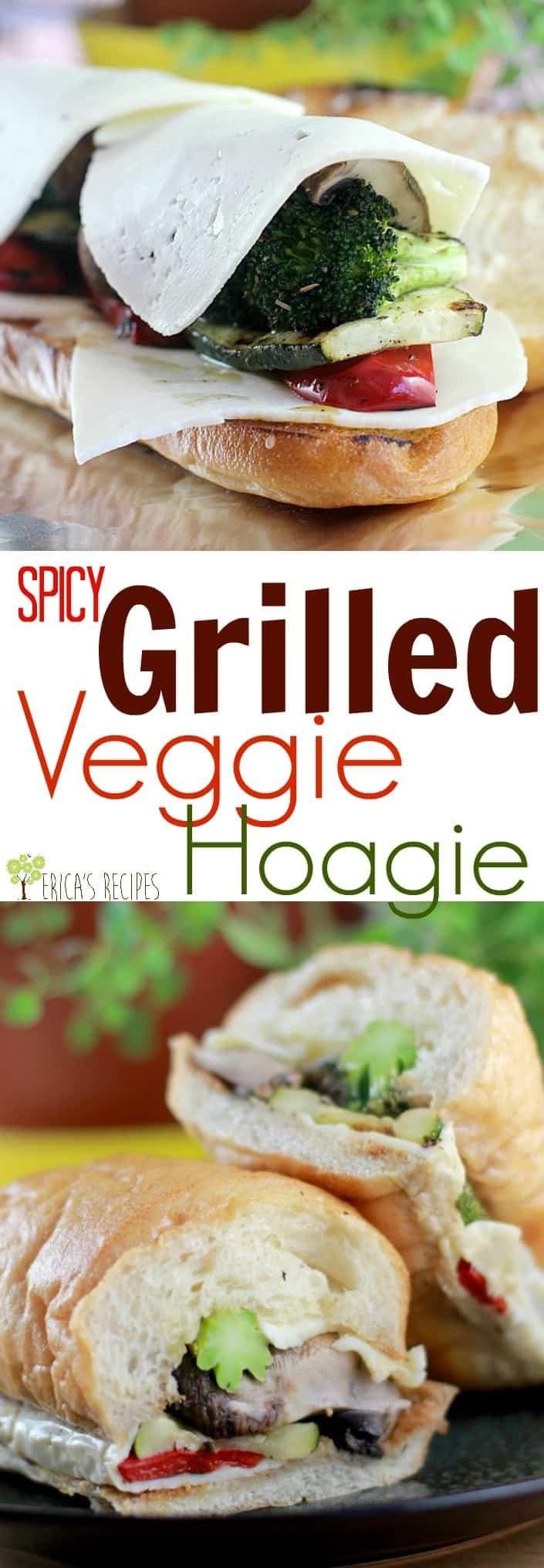 Spicy Grilled Veggie Hoagies #KingofFlavor #FlavorRocksTG #ad