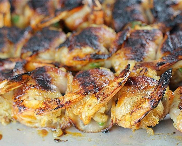 Bacon-Wrapped BBQ Stuffed Shrimp #GrillGatingHero #GrillGating #ad