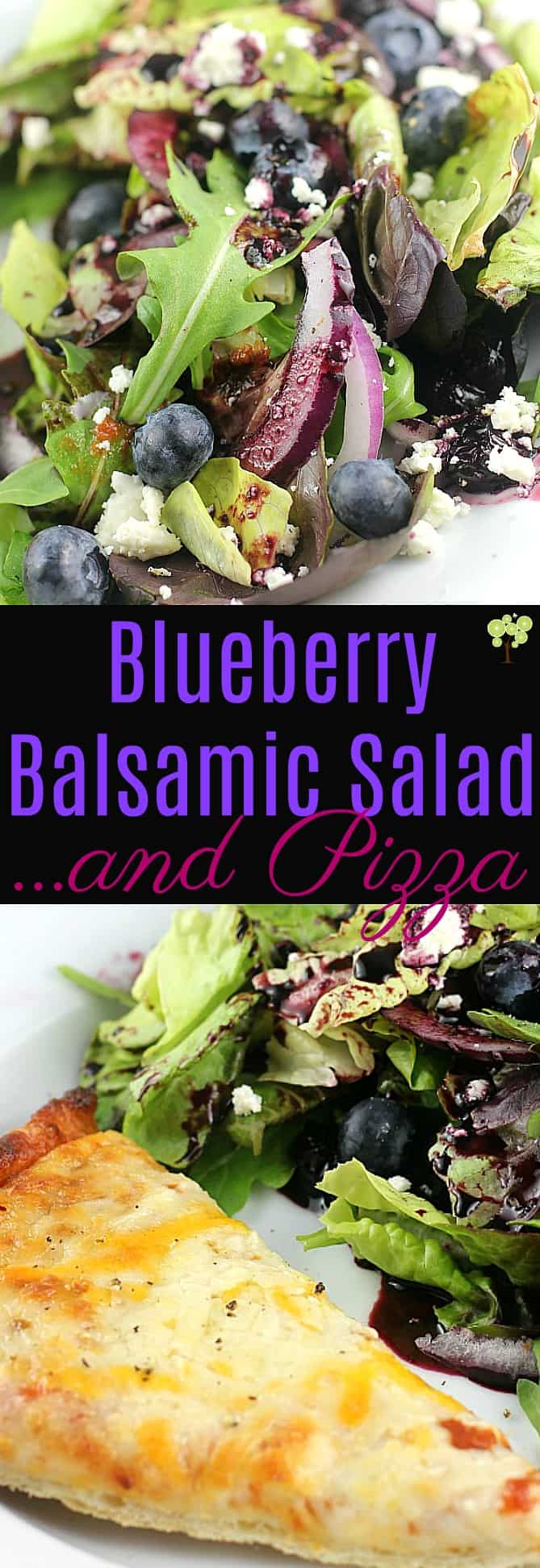 Blueberry Balsamic Salad ...and Pizza #BaronessPatches #ad