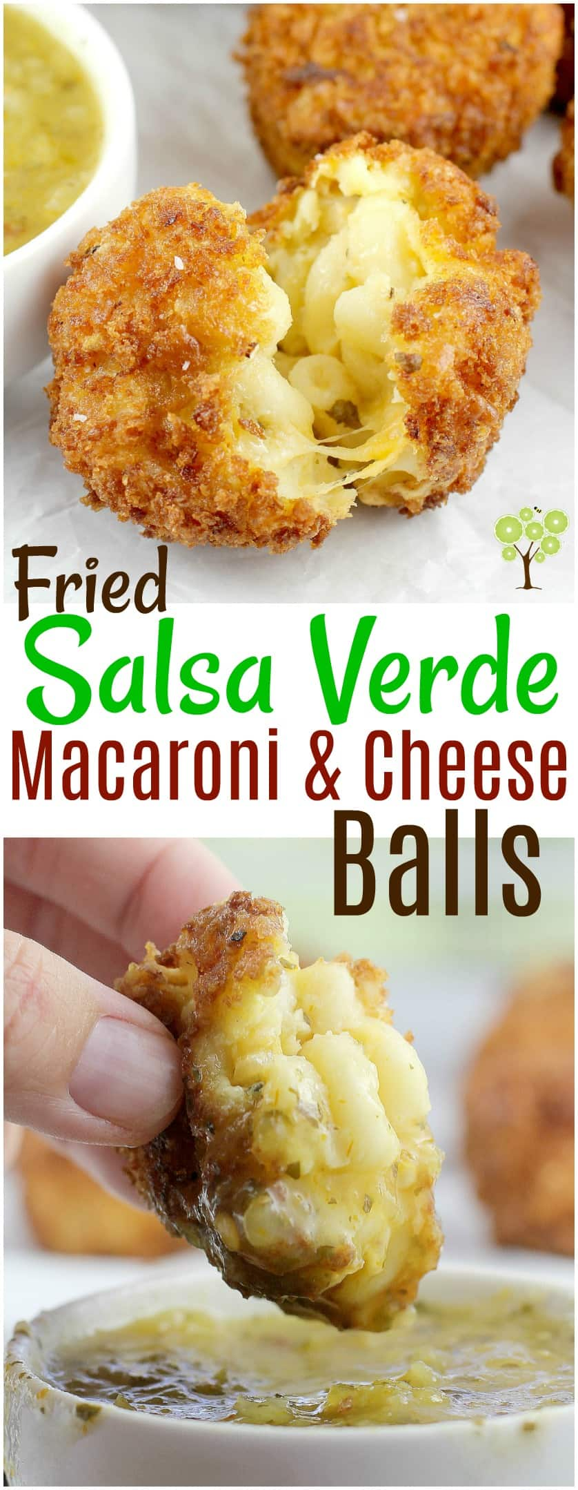 Fried Salsa Verde Macaroni and Cheese Balls #MakeGameTimeSaucy #ad