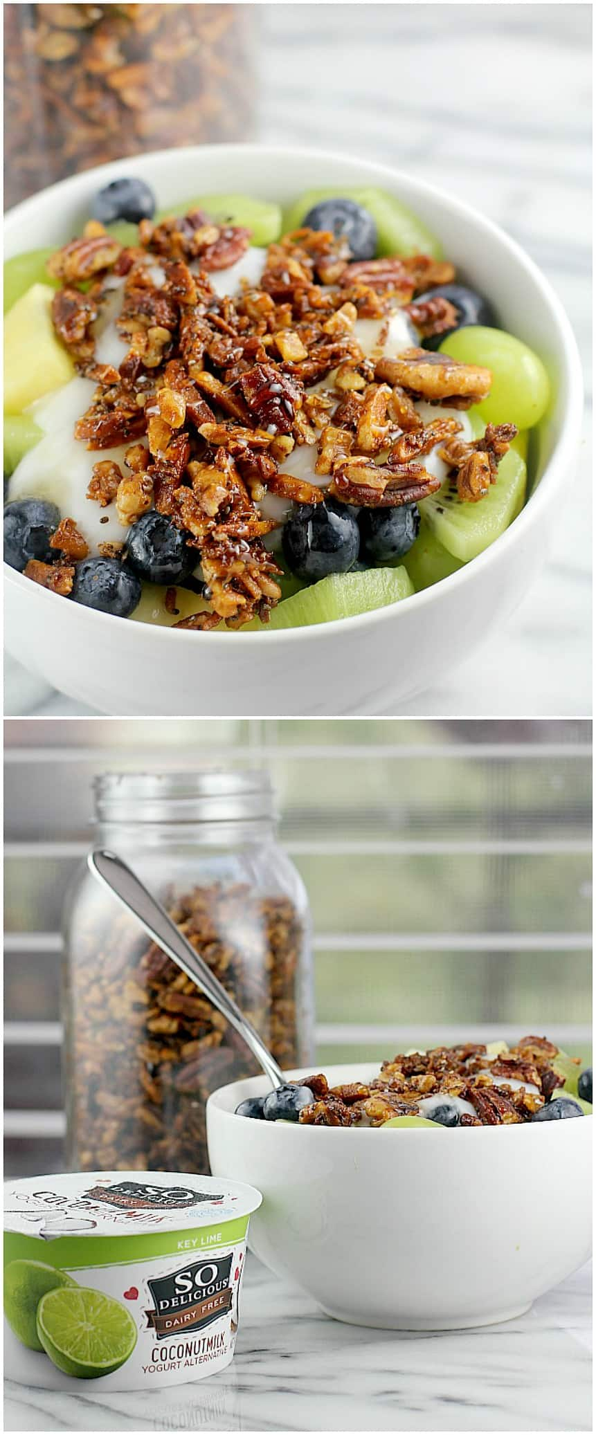 Key Lime Parfait with Simple Grain-Free Granola (DF, GF, Paleo) #DairyFreeGoodness #ad