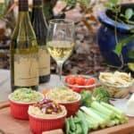 Vegetarian Charcuterie Board with Hummus Flight
