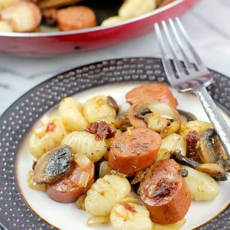 Cajun Sausage and Gnocchi (Ready in 20 minutes!) #EverydayEckrich #ad