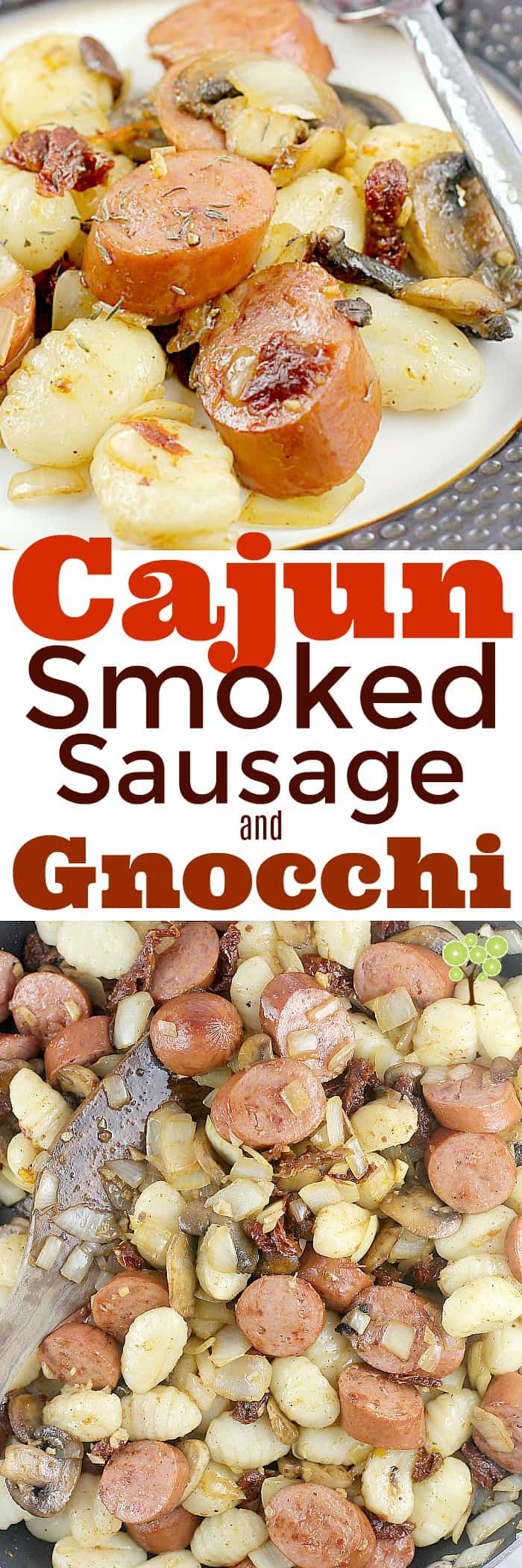Cajun Smoked Sausage and Gnocchi (Ready in 20 minutes!) #EverydayEckrich #ad