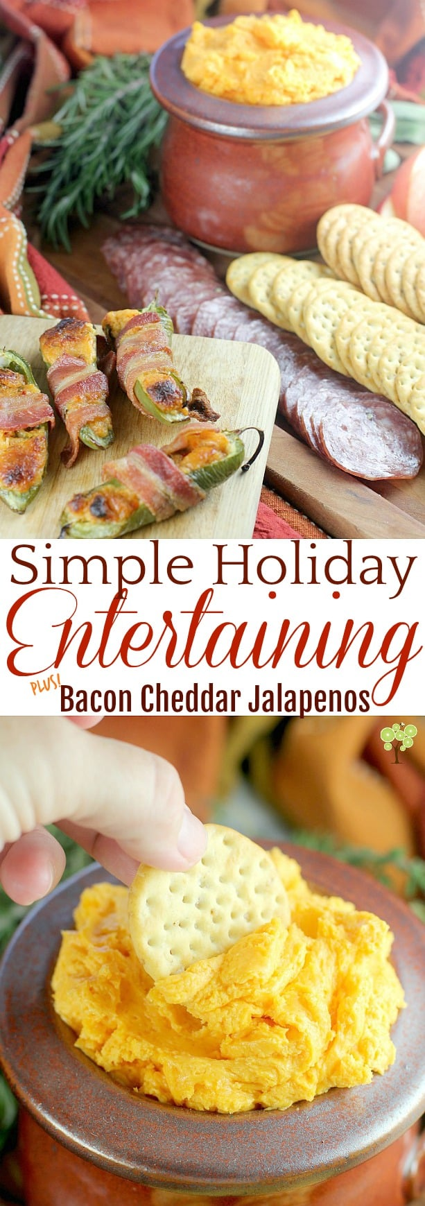 Simple Holiday Entertaining plus Bacon Cheddar Jalapenos #InspireWithCheese #ad