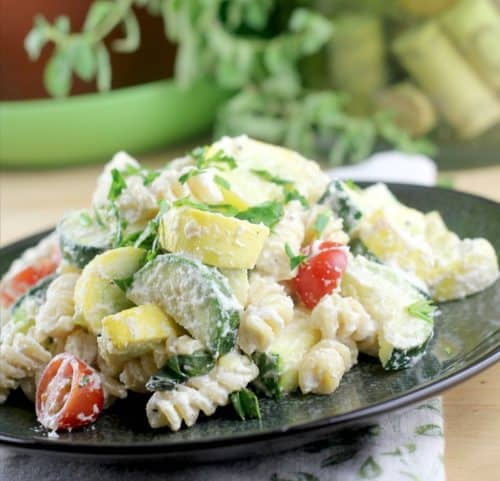 Creamy Vegan Vegetable Primavera
