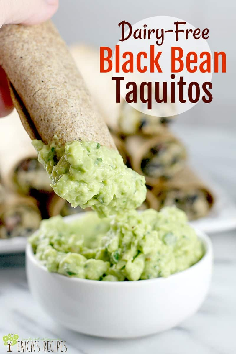 Dairy-Free Black Bean Taquitos - Erica's Recipes
