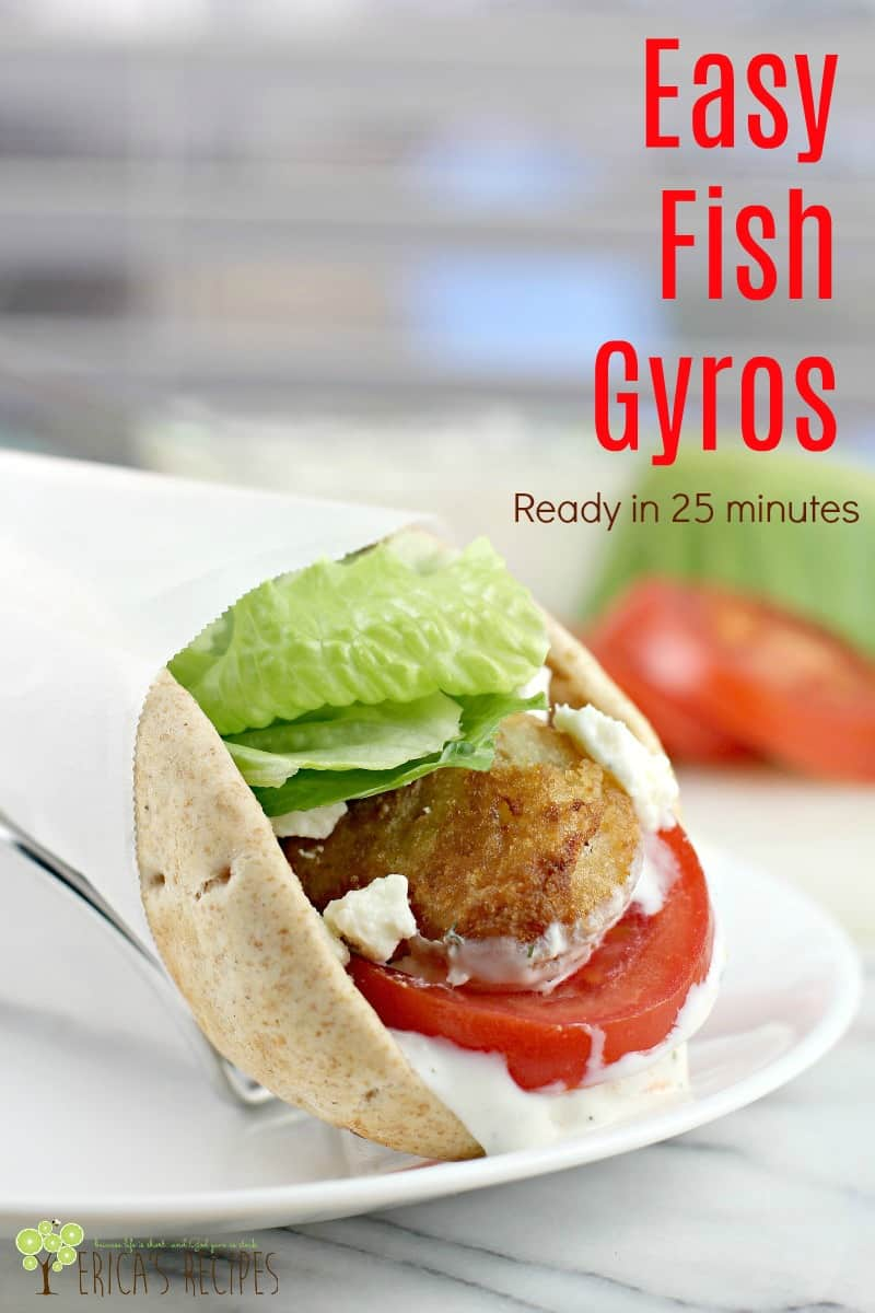 Easy Fish Gyros #GortonsMealTime #TrustGortons #food #Lent #recipe #seafood #quickdinner