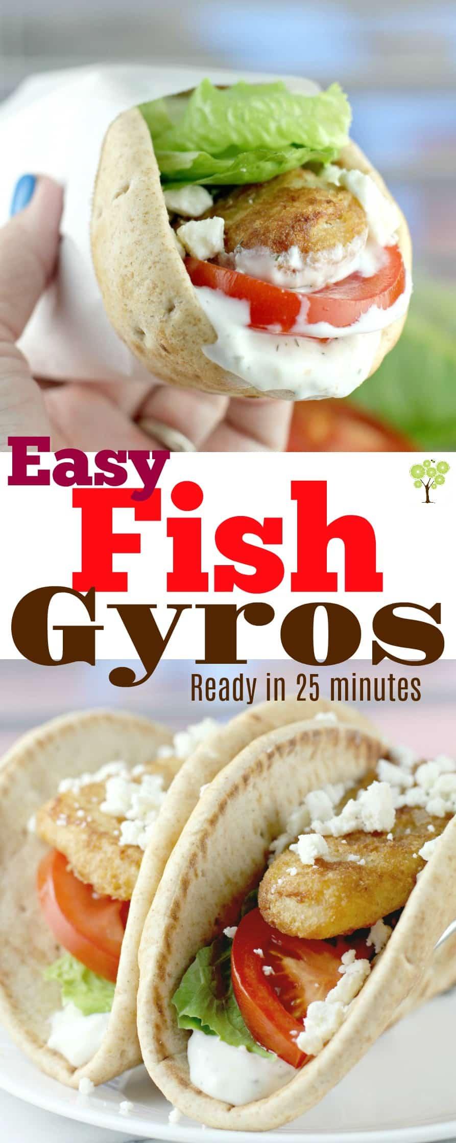 Easy Fish Gyros #GortonsMealTime #TrustGortons #food #Lent #recipe #seafood #quickdinner