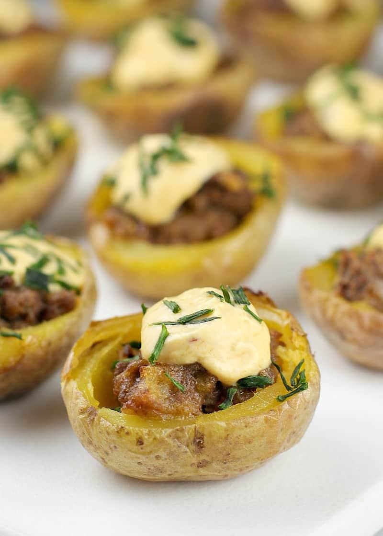 Mini Cheeseburger Potato Bites